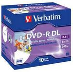 Verbatim 43665 Inkjet Printable Double Layer 8.5GB DVD+R