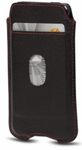 D'Bramante Leather Cover With Pocket For Iphone 5 - Smooth  Black