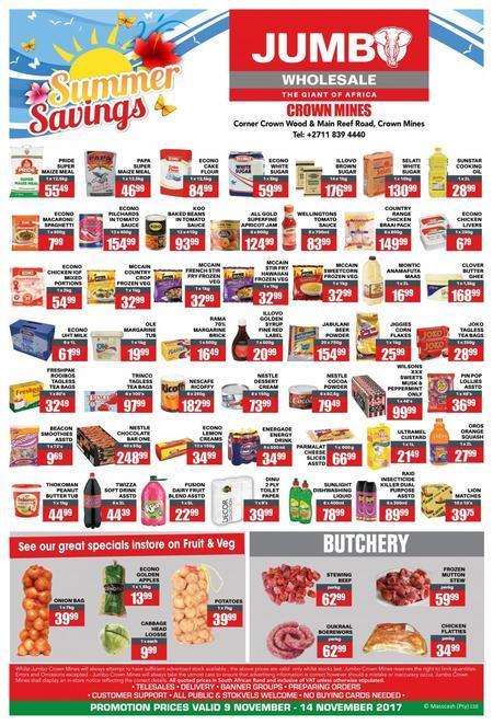 Shop Jumbo Cash & Carry Online | Shop Deals & Compare Prices