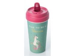 ChicMic Bamboo Travel Mug 400ML Time For Unicorns
