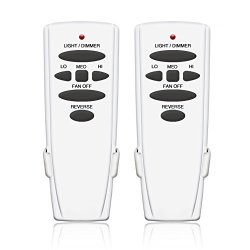 CQ Market Ceiling Fan Remote Control Replacement For Hampton Bay UC7078T CHQ7078T Fan-hd With Reverse Button L3H2010FANHD FAN-HD6 Just Remote Control 2 Pack CFLRC362-01