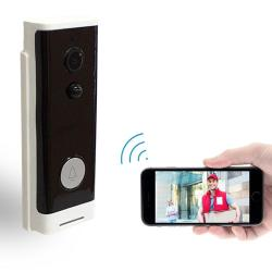M200A Wifi Intelligent Round Button Video Doorbell Support Infrared Motion Detection & Adaptive Rate & Two-way Intercom & Remote Pir Wakeup White