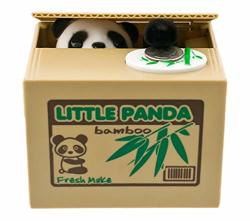 Mischief Novelty Sneaky Panda Money Stealing Piggy Bank 4 3 4 Inch