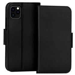 FYY Case For Iphone 11 Pro 5.8 Luxury Cowhide Genuine Leather Rfid Blocking Wallet Case Handmade Flip Folio Cover With Kickstand