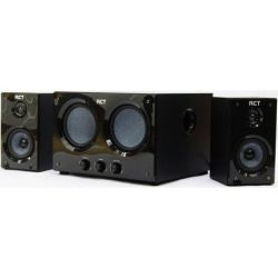 RCT 2.2 Channel Stereo USB Speaker - 2X Satellite Speakers + 1X Dual-sub Unit - 20W - 2-PIN Plug