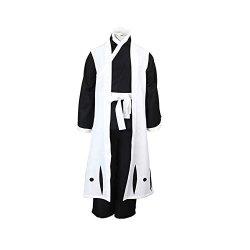 Ilovcomic Men's Bleach Cosplay Ichimaru Gin 4TH Costume Squad Three Captain Uniform Simplify Ver Size Large