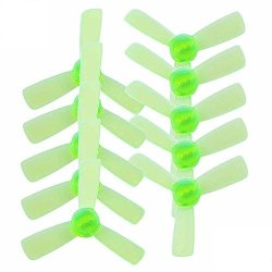 UUMART Kingkong 1935 3-BLADE Propellers 10 Pairs 10CW 10CCW Clear Green For Q90 90GT Fpv Drone Recommended Motor 1103 1104