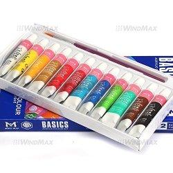 Windmax Brand New 12 Pieces Acrylic Color Peinture Acrylique Paint