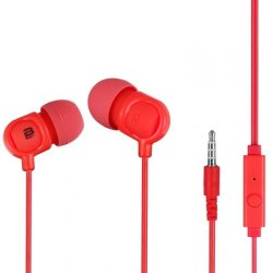 Bounce Jive Earphones With Mic in Red