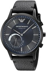 Emporio Armani Connected Hybrid Smartwatch Men&apos S ART3004 Black Leather
