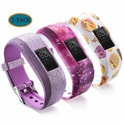 Compatible With Garmin Vivofit Jr Bands For Kids Colorful Adjustable Silicone Replacement Bands Wristband Straps Bracelet For Vivofit Jr vivofit JR2 VIVOFIT3 Purple Galaxy Yellow