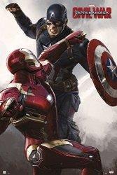 "POSTER STOP ONLINE Captain America 3: Civil War - Marvel Movie Poster Print Battle - Iron Man Vs. Captain America Size: 24"" X 36"" Poster &"