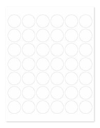 "Sblabels 1 1 4"" White Round Labels For Inkjet & Laser Printers 1 050 1.25 Inch Dots Per Pack"