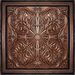 24x24 PVC Antyx Antique Copper Patina Ceiling Tile