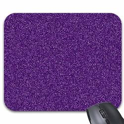 Purple Glitter Texture Mouse Pads Stylish Office Computer Accessory 9 X 7.5IN