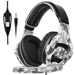 Sades SA810 Gaming Headset Headphone 3.5MM Over-ear Bass Surround With Microphones In-line Volume Control For PC XBOXONE PS4 MAC