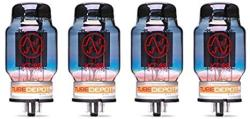 Quad Of Jj KT88 Blue Glass Power Vacuum Tube