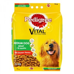 Pedigree Medium Adult Dry Dog Food Chicken 6kg