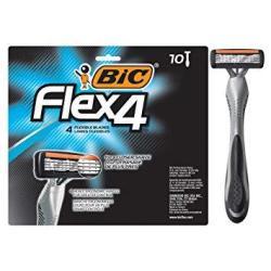 Bic Flex 4 Men's 4-BLADE Disposable Razor 10 Count