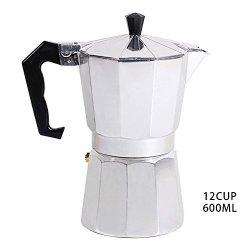 Junda Italian Espresso Coffee Maker Stove 1 3 6 9 12 Cup Stovetop Espresso Maker Top Moka Macchinetta Latte Coffee Pot Stove