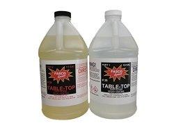 Fasco Epoxies Inc. 1GAL Clear Bar Table Top Epoxy Resin Coating