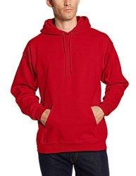 Hanes Men's Athletic Child Code Hanes Men's Pullover Ultimate Heavyweight Fleece Hoodie Deep Red Small