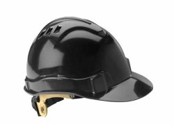 Gateway Safety, Inc Gateway Safety 71207 Serpent High Density Polyethylene Vented Safety Helmet With Ratchet Suspension Ansi Type I class C Black