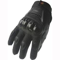 Street Bike Full Finger Motorcycle Gloves 09 Large Black