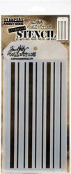 """Stampers Anonymous Tim Holtz Layered Stencil 4.125""""X8.5""""-SHIFTER Mint"""