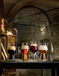Luigi Bormioli Birrateque Craft Beer Glasses Ipa white Set Of 2 18.25 Oz Clear