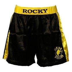 Rocky Black Italian Stallion Boxer Shorts Adult Large