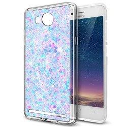 Huawei Y3 II Case Huawei Y3 II Glitter Tpu Case Ikasus Luxury Sparkle 3D Bling Diamond Glitter Paillette Flexible Soft Rubber Ge
