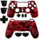 Ps4 Dualshock 4 Controller Shell Skull Red
