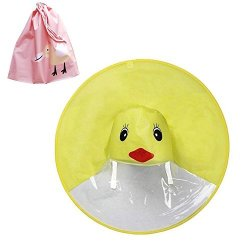 Inf-way Yellow Duck Kids Raincoat Children's Hooded Poncho Cloak Cartoon Ufo Raincoat For 2-7 3 Sizes M