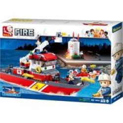 Sluban Fireboat & Oil Tank 429 Pieces