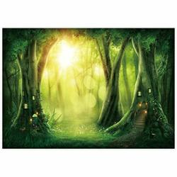 Allenjoy Spring Enchanted Forest Photography Backdrop Easter Tree House Fairy Kids Birthday Party Wall Decoration Banner Sunshin
