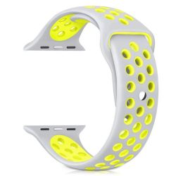 42MM Hole Band For Apple Watch - Silver & Yellow Size: M l