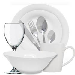 Nova Dinner Set With Matching Cutlery And Wine Glasses 72PC