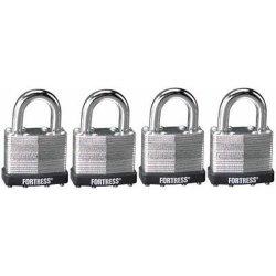 Master Lock 1803Q Fortress Series Laminated Steel Padlock 1-1 2-INCH 4-PACK