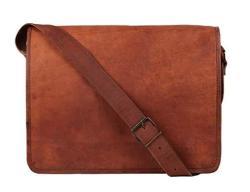 Rustic Town 13 Inch Vintage Crossbody Genuine Leather Laptop Messenger Bag