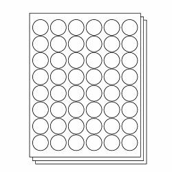 1-1 5 Inch Round Labels - 48 Per Sheet 2400 Circle Labels 50 Sheets For Inkjet & Laser Printers By Officesmartlabels