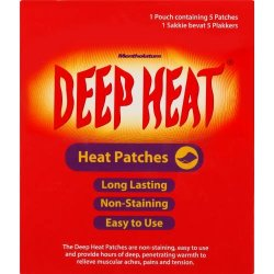Deep Heat Patches 5 Patches