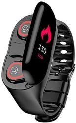 Wynco M1 Smart Bracelet Wireless Bluetooth Headset Running Music Wristband Earphone Heart Rate Blood Pressure Fitness Tracker Black Strap