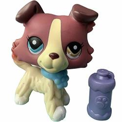 Lps Collectable Rare Figures 1262 Toy Red And Tan Different Eyes Collie Clear Peg Magnet Foot With Lps Accessories Kids Gift