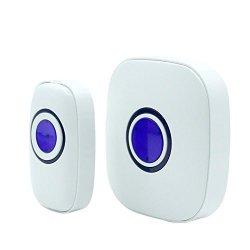 Transer Wireless Driveway Alert Wireless Motion Sensor Detector Gate Entry Door Bell Welcome Chime Alert Alarm White