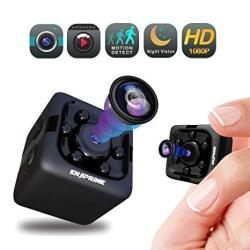 Spy Hidden Camera Nanny Cam - MINI Wireless Cop Cam Action Cameras For Indoor Or Outdoor Home Office Or Car Video Recorder With