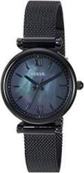 Fossil Women MINI Carlie Stainless Steel And Mesh Casual Quartz Watch ES4613