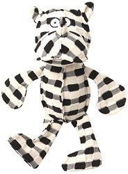 Petrageous Designs Pet Rageous Checkrageous Pipa The Rhino Dog Toy 13.5 Black cream By Petrageous