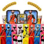 Power Rangers Ninja Steel Birthday Party Supplies Pack For 16 Guests Stickers Dinner Plates Luncheon Napkins Cups And Table Cove