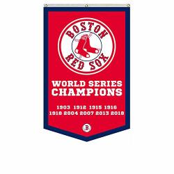 """2LOVE Boston Red Sox 9-TIME World Series Champions Banner Flag 30""""X50""""INCH Man Cave Red 1"""